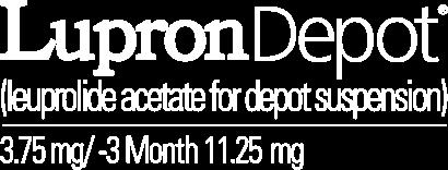 LUPRON DEPOTR Leuprolide Acetate For Depot Suspension Logo